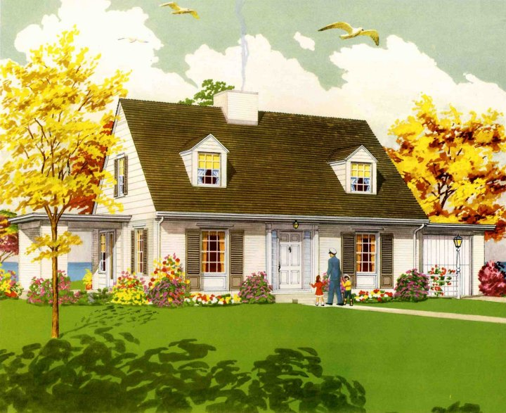 1950 american dream houses we start a new series retro American dream homes plans