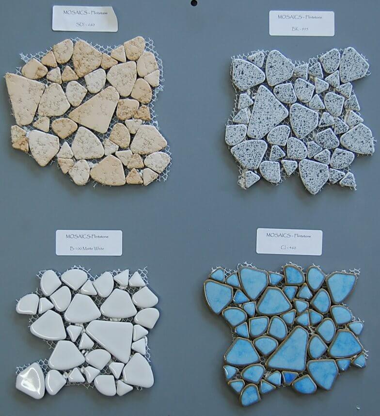 mosaic floor tile that looks like pebbles