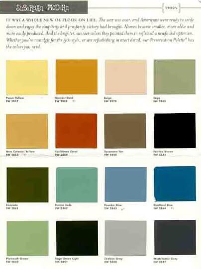 sherwin williams mid century modern paint colors