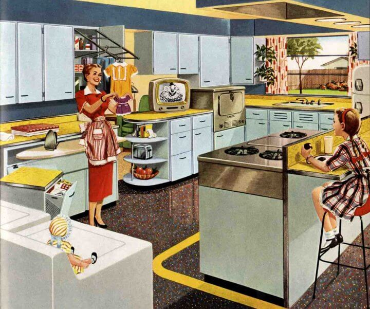 "A 1953 Kitchenmaid kitchen - ""The Television Kitchen"""