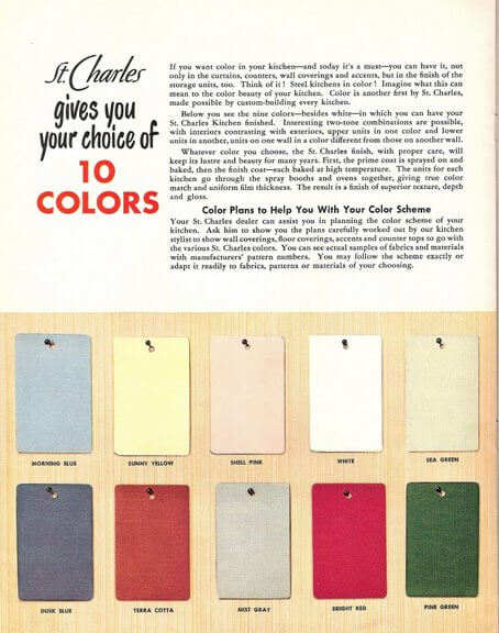 St Charles Mid Century Modern Kitchen Cabinet Colors