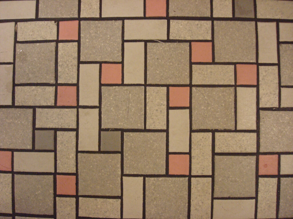 vintage-pink-and-gray-tile-floor-at-disneyland