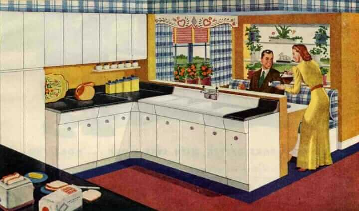 1946 American brand kitchen
