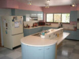 Ruth's blue Geneva kitchen… peach and pink bathrooms… and more