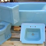vintage blue american standard bathroom fixtures