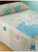 chenille peacock bedspread from vermont country store
