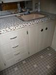 Cindy updates her 50s bathroom vanity, tile floor and shower