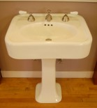1930s reproduction sink for a bungalow, four-square or romantic revival bathroom