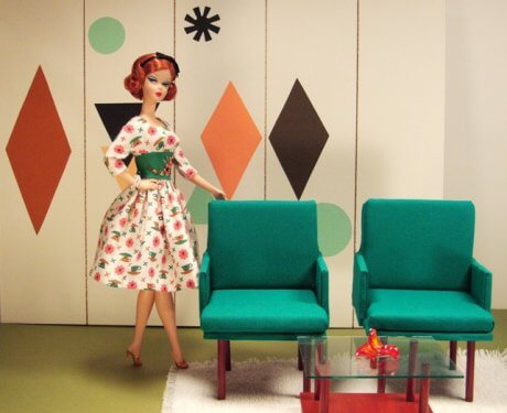 barbie-with-retro-furniture