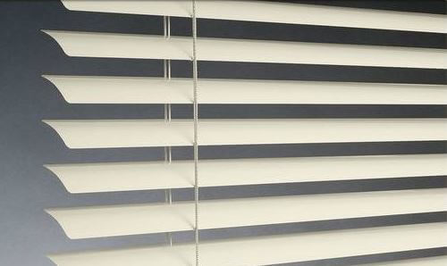 aluminum window blinds open