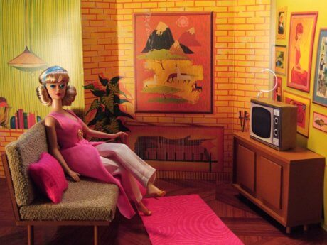 midcentury furniture for barbie
