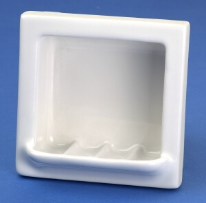 Recessed Fully Porcelain Soap Dish Retro Renovation