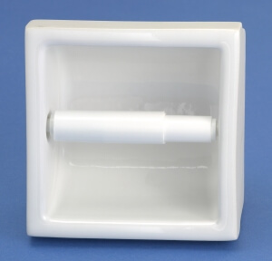 fully recessed toilet paper holder