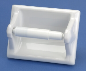 Recessed Porcelain Toilet Paper Holder