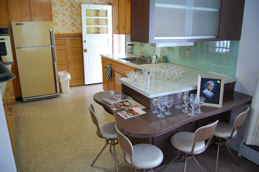 1960s kitchen with dinette