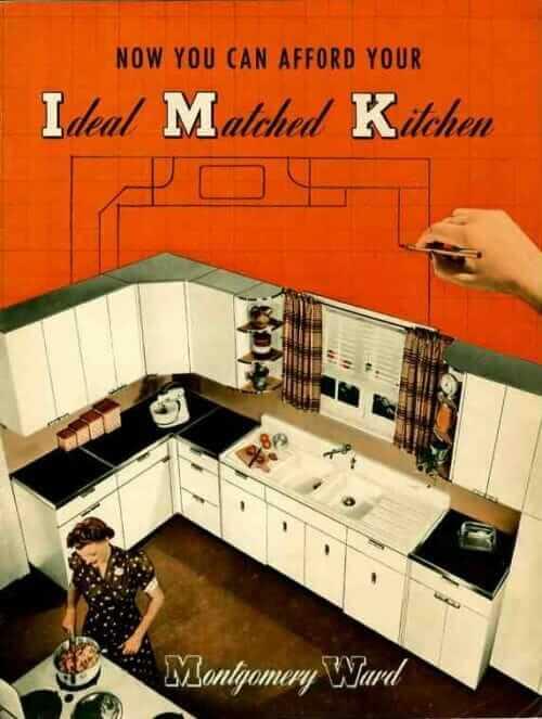 Montgomery Ward metal kitchen cabinets