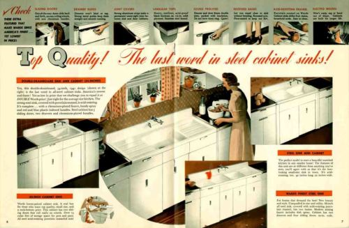 vintage 1941 steel kitchen cabinets from Montgomery Ward