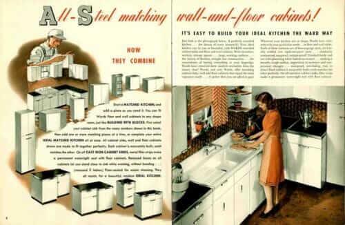 Montgomery Ward kitchen cabinets