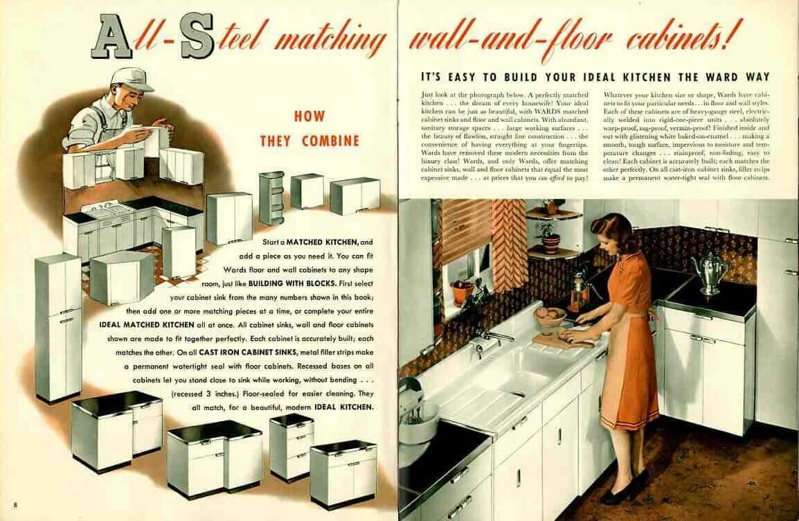 Update Montgomery Ward Steel Kitchen Cabinets A Catalog