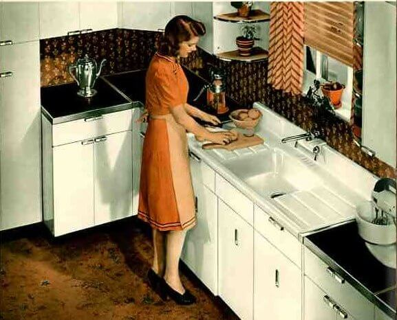 cabinets ideas kitchen 1940s archives retro renovation 1941