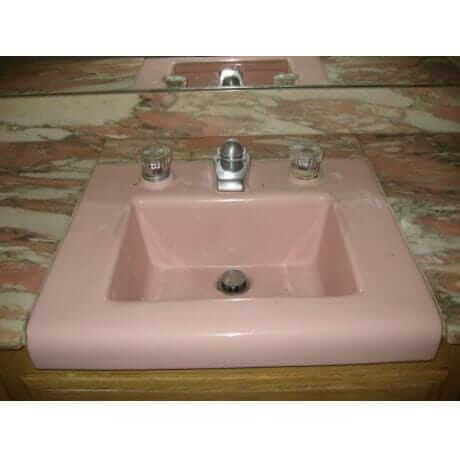 replacement pink sink