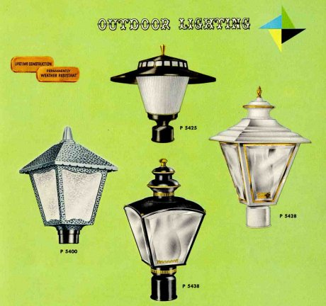 Mid century exterior lighting home designs for Mid century porch light
