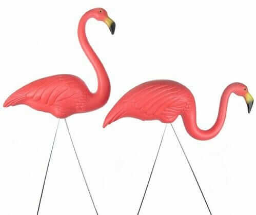 Pink Flamingo Lawn Ornaments By Don Featherstone