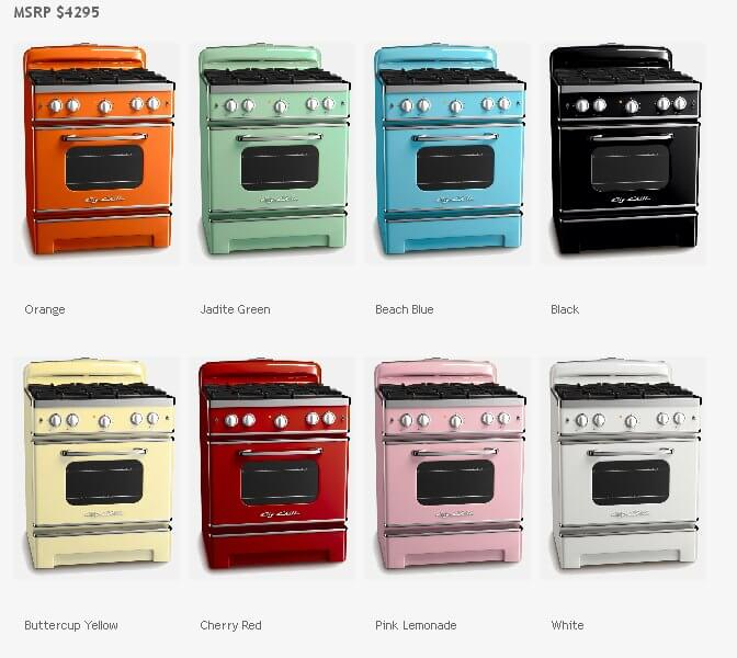 Vintage 1950s Style Stoves From Chill