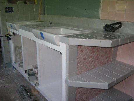 tile-in sink