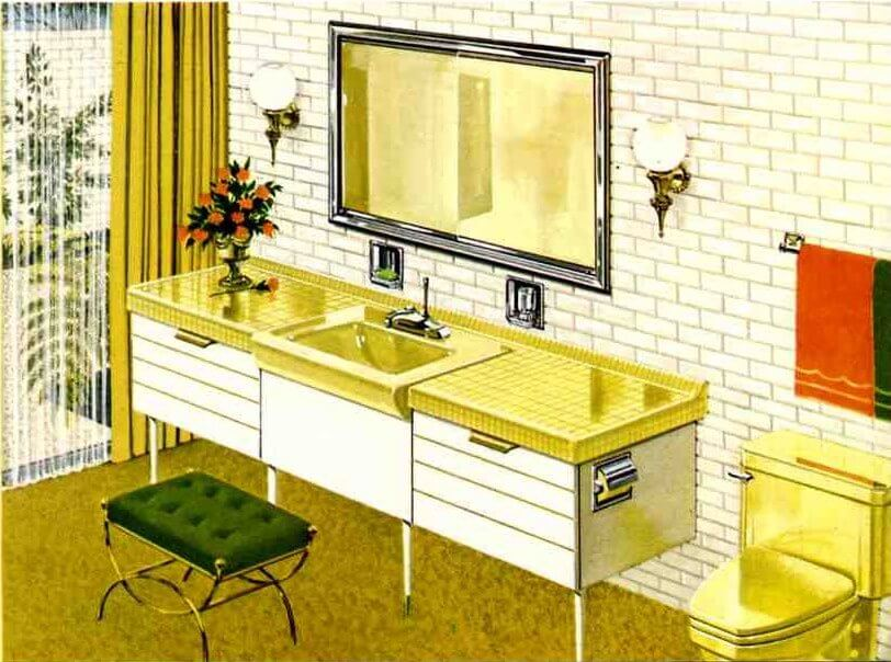 Six mid century bathrooms vintage 1962 retro renovation for 60 s bathroom ideas