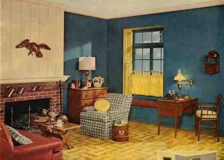 Early american design why was it popular in the mid 20th - 1950 s living room decorating ideas ...