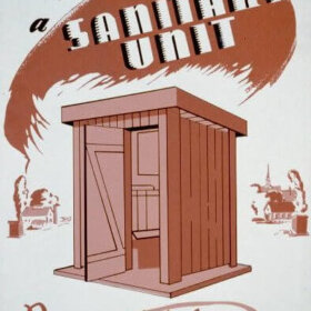 WPA poster sanity unit outhouse