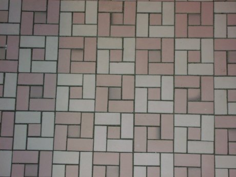 pink-bathroom-floor-tile-pinwheel-mosaic