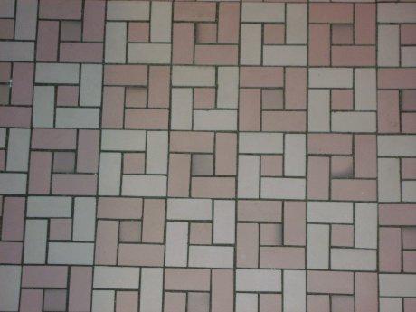 Colvins pink unglazed porcelain ceramic bathroom floor tiles
