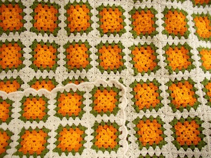 granny-square-throw-in-orange-and-green