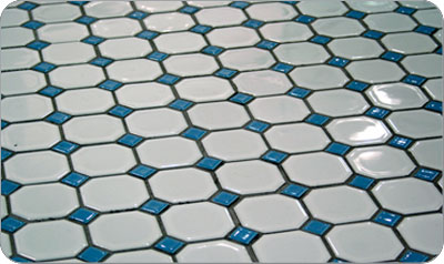 Octagon And Dot Floor Tiles In Color Combinations Retro Renovation - 1920's floor tile patterns