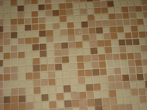 pink-mosaic-bathroom-floor