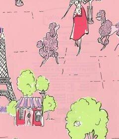 pink poodle wallpaper