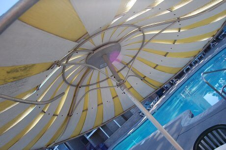 mid century modern patio umbrella