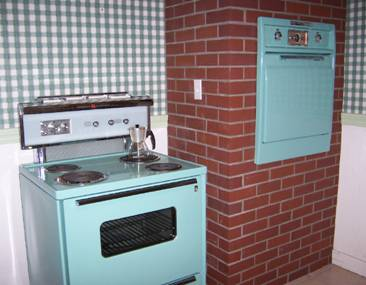 oven in brick wall