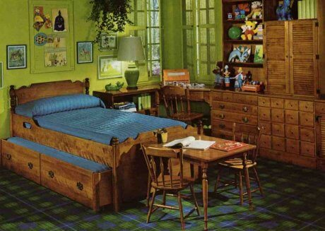 Midcentury Childrens Bedrooms From Ethan Allen Retro - Ethan allen bedroom furniture sale