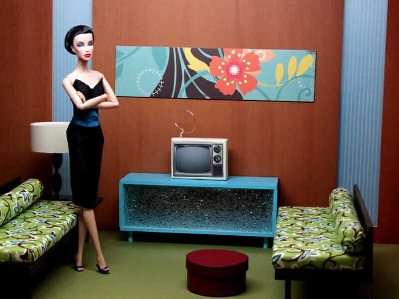Mid Century Modern Den For Fashion Dolls Retro Renovation
