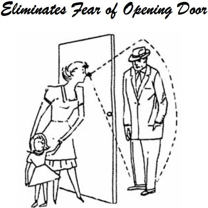peek-o peep hole illustration for doors
