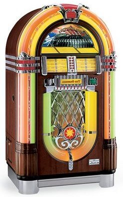 wurlitzer 45 jukebox replica retro renovation. Black Bedroom Furniture Sets. Home Design Ideas
