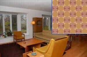 mid-century-living-room-with-mod-wallpaper