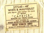 vintage waverly caprice las vegas cloth - label