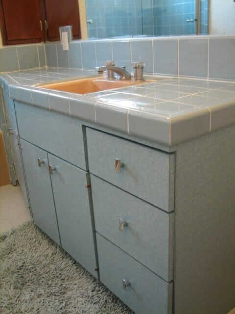 bathroom vanity made from formica