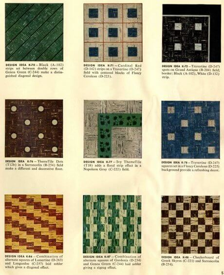 1950s tile patterns kentile Retro Renovation
