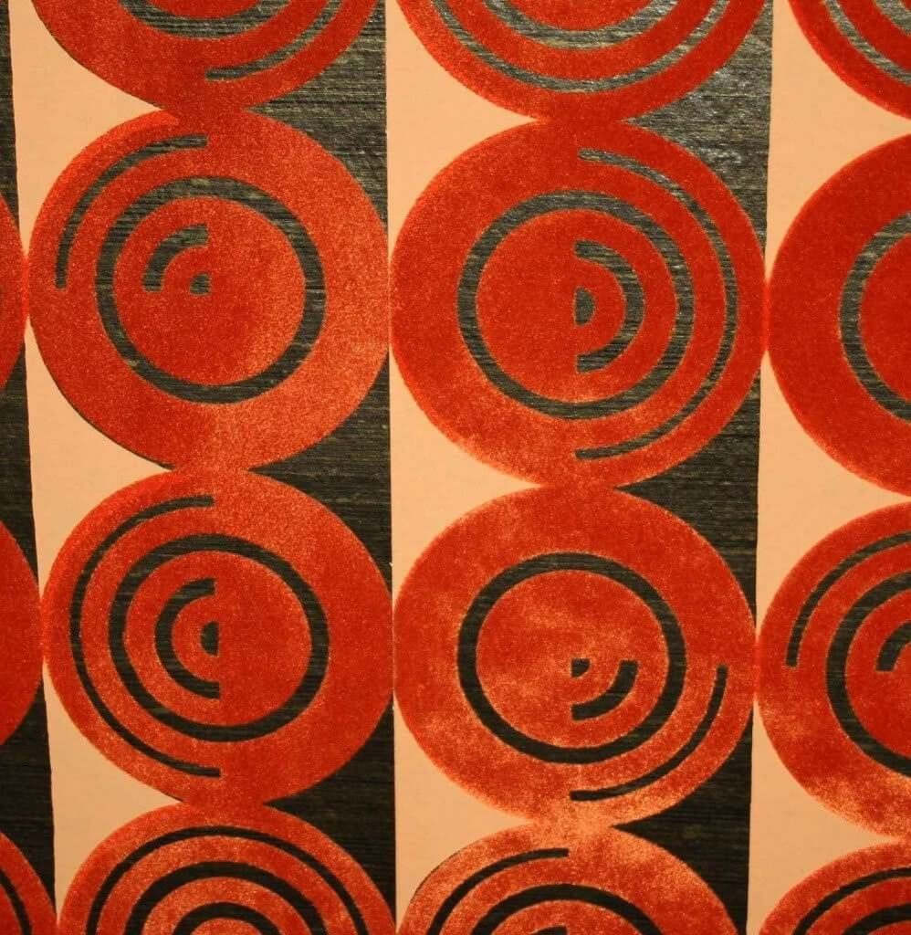 flocked-wallpaper-1964-red-orange-bedroom