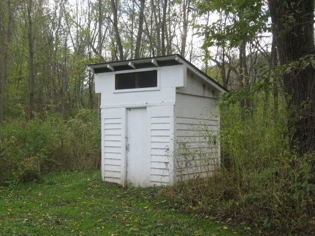 outhouse built by the WPA